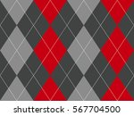 Red Gray Argyle Fabric Texture...