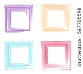 colorful vector grunge square... | Shutterstock .eps vector #567705598
