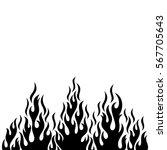 black vector fire flame design... | Shutterstock .eps vector #567705643
