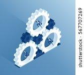 Isometric Business People Run...
