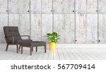 modern bright interior . 3d... | Shutterstock . vector #567709414