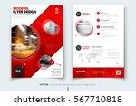 red brochure design. corporate... | Shutterstock .eps vector #567710818