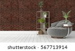 modern bright interior . 3d... | Shutterstock . vector #567713914