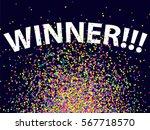 confetti background. winning... | Shutterstock .eps vector #567718570