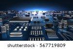 high tech electronic pcb ... | Shutterstock . vector #567719809