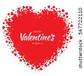 abstract vector grunge heart... | Shutterstock .eps vector #567722110