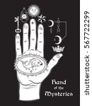 the hand of the mysteries. the... | Shutterstock .eps vector #567722299