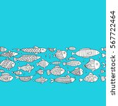 art fish collection  sketch for ... | Shutterstock .eps vector #567722464