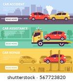 banner set about car inuranse ... | Shutterstock .eps vector #567723820