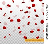 3d red circle confetti  falling ...   Shutterstock .eps vector #567724750