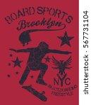 nyc skate team graphic design... | Shutterstock .eps vector #567731104