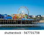 amusement park in santa monica... | Shutterstock . vector #567731758