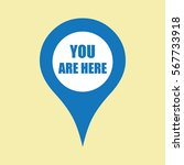 map pin icon with you are here | Shutterstock .eps vector #567733918
