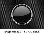 black round button with chrome... | Shutterstock .eps vector #567735856