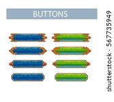 set of colored buttons  vector...