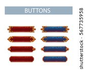 set of colored buttons  vector... | Shutterstock .eps vector #567735958