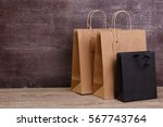 mockup of blank shopping bags.... | Shutterstock . vector #567743764