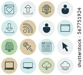 set of 16 world wide web icons. ...