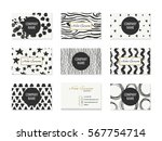 set of business cards with hand ... | Shutterstock .eps vector #567754714