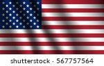 united states flag. stars and... | Shutterstock .eps vector #567757564