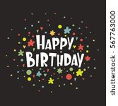 greeting card happy birthday.... | Shutterstock .eps vector #567763000