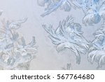 Frosty Winter Background Photo...