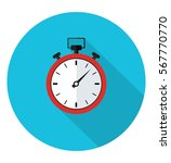 stopwatch icon in trendy flat... | Shutterstock .eps vector #567770770