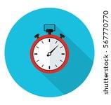 stopwatch icon in trendy flat... | Shutterstock .eps vector #567770770