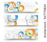 abstract vector banners with... | Shutterstock .eps vector #567770824
