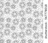vector floral seamless pattern...   Shutterstock .eps vector #567778018