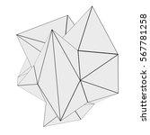 3d render of abstract geometric ... | Shutterstock . vector #567781258