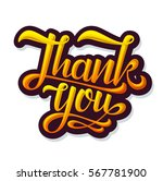 thank you sticker. vector... | Shutterstock .eps vector #567781900