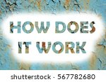 how does it works words print... | Shutterstock . vector #567782680