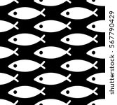 White Christian Fish Vector...
