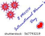 8 march international women's... | Shutterstock .eps vector #567793219