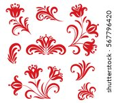floral pattern decor element... | Shutterstock .eps vector #567796420