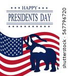 presidents day. greeting card... | Shutterstock . vector #567796720