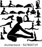 vector silhouettes of slim girl ... | Shutterstock .eps vector #567800719