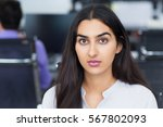 portrait of serious latin... | Shutterstock . vector #567802093
