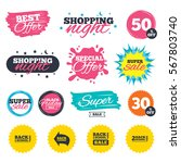sale shopping banners. special... | Shutterstock .eps vector #567803740