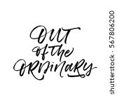out of the ordinary postcard.... | Shutterstock .eps vector #567806200