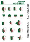 algeria flag collection. big... | Shutterstock .eps vector #567806530