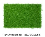 Green Grass Field Isolated On...