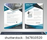 blue annual report brochure... | Shutterstock .eps vector #567810520