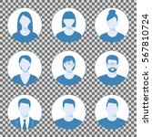 avatar profile icon set... | Shutterstock .eps vector #567810724