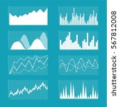 graphs and charts set.... | Shutterstock .eps vector #567812008