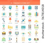 finance color flat icon set.... | Shutterstock . vector #567814018
