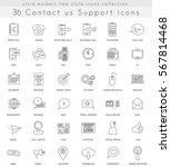 contact us ultra modern... | Shutterstock . vector #567814468