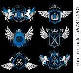 vintage heraldry design... | Shutterstock .eps vector #567815590
