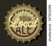 beer bottle cap top view with... | Shutterstock .eps vector #567816088